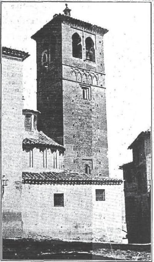 Torre mudéjar de Santa Leocadia en 1904. La Ilustración Española y Americana