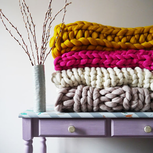 Chunky Knit Blankets | Centsational Girl