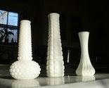 Milk Glass Vase Set -2