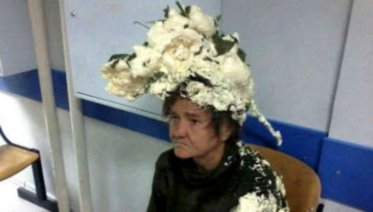 Woman ends up in ER after mixing up hair mousse with builders' foam