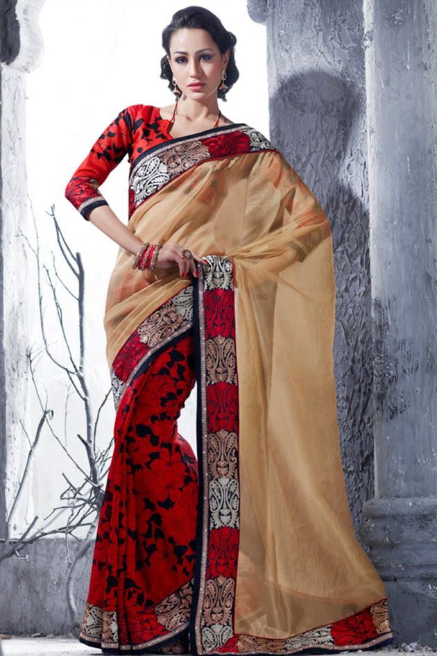 Indian-Brides-Bridal-Wedding-Party-Wear-Embroidered-Saree-Design-New-Fashion-Reception-Sari-7