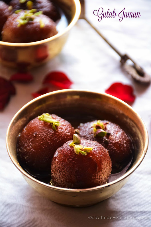 Gulab Jamun Recipe | How to make gulab jamun with khoya - Rachna's Kitchen