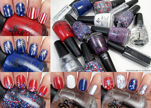 Fourth of July Nail Art Ideas with Salon Perfect Rockin' the Red, White, and Blue Collection! - Adventures In Acetone