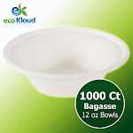 Eco Kloud Compostable Bowl 12 oz, 1000-count