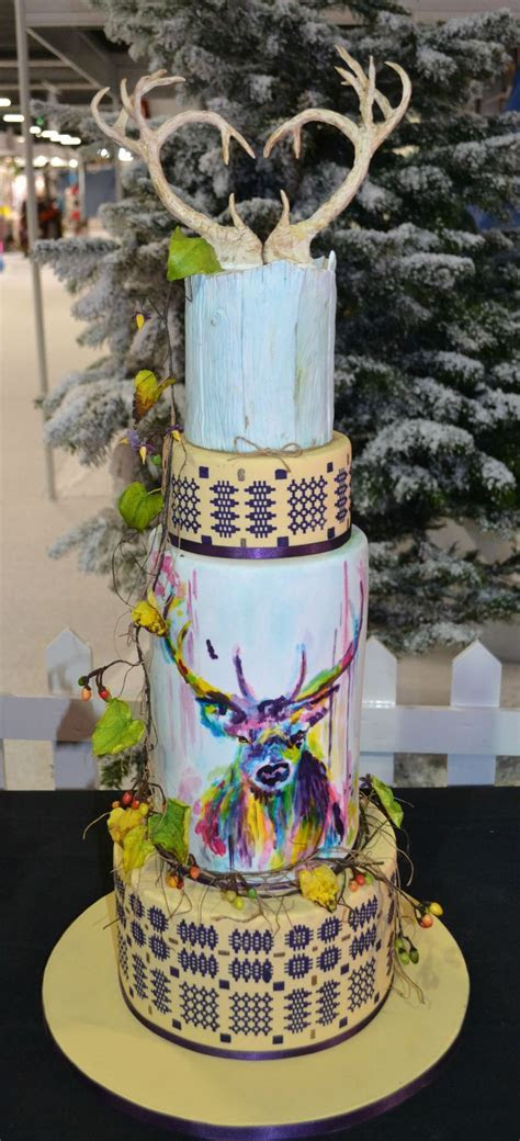 Whimsical Forest Wedding Cake   CakeCentral.com