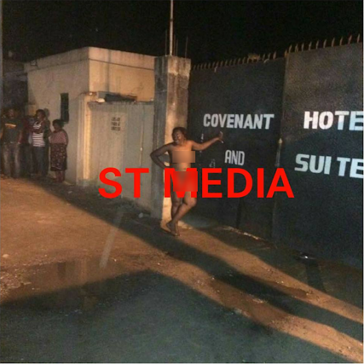 Lady runs mad after having s*x with man in Delta hotel [PHOTOS] - NAIJA.FM
