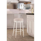 Hillsdale Furniture Aubrie Swivel Backless Bar Stool, White