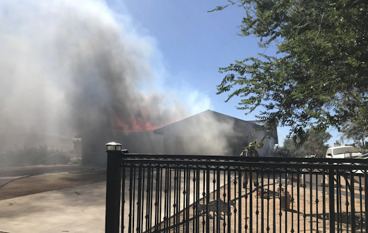 San Bernardino County Firefighters battle house fire in Hesperia - Victor Valley News | VVNG.com
