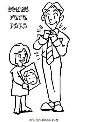 Coloriages Fête Des Pères Page 1 Fête Des Pères