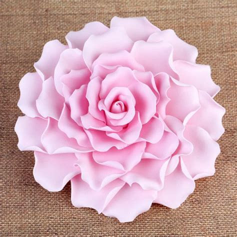 "Extra Large 6"" Gumpaste Rose Sugarflower Cake Topper"