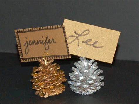 Pine Cone Place Card Holders   HGTV