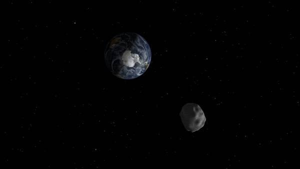 Imagen ilustrativa de un asteroide aproximándose a la Tierra realizada por al Nasa. /NASA