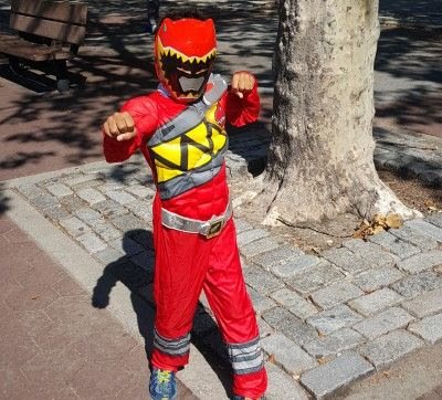 Power Rangers Dino Charge Halloween Products and Safety Tips Video