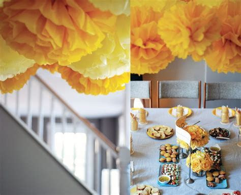 Gray and Yellow Baby Shower by Chelle Paperie   The