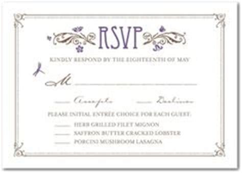 Sit down plated dinner RSVP cards can you post some pics