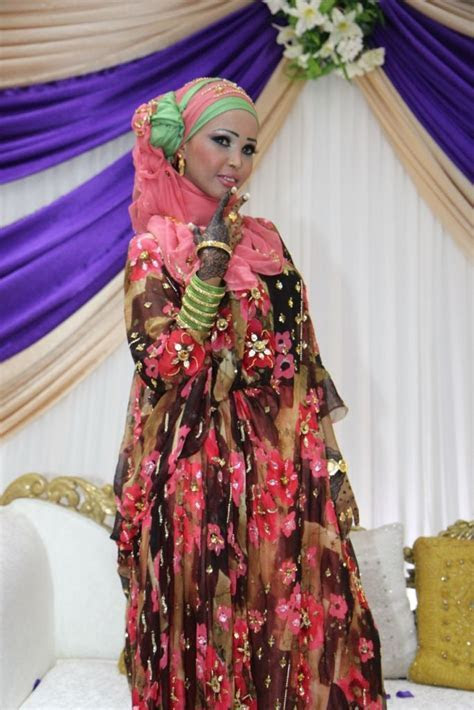 Beautiful african bride in her traditional Somali clothes