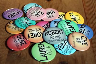 Buttons for Iyabo's wedding