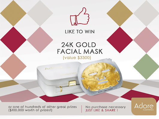 You Could Win An Adore ADORE TECHNODERMIS 24K GOLD FACIAL MASK $3300 VALUE!