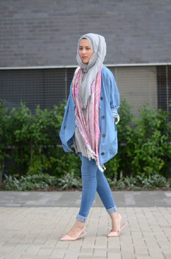 latest casual hijab styles with jeans 20172018 trends  looks