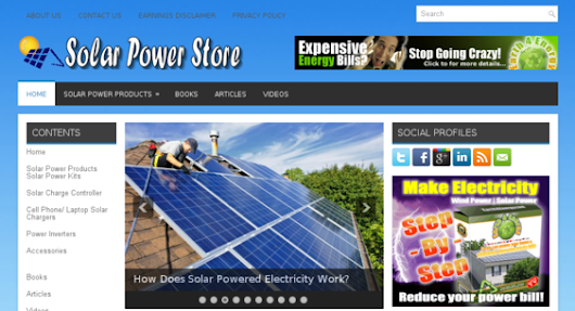 solarpowerstore.xyz - starter site listed on Flippa