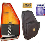Oscar Schmidt 21 Chord Autoharp, Flame Maple Top, Honey Sunburst, OS11021FHS Bundle, OS11021FHS AC445PACK
