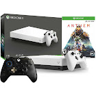 Microsoft Xbox One x 1TB Anthem Limited White Bundle with Extra Controller - PUBG Limited