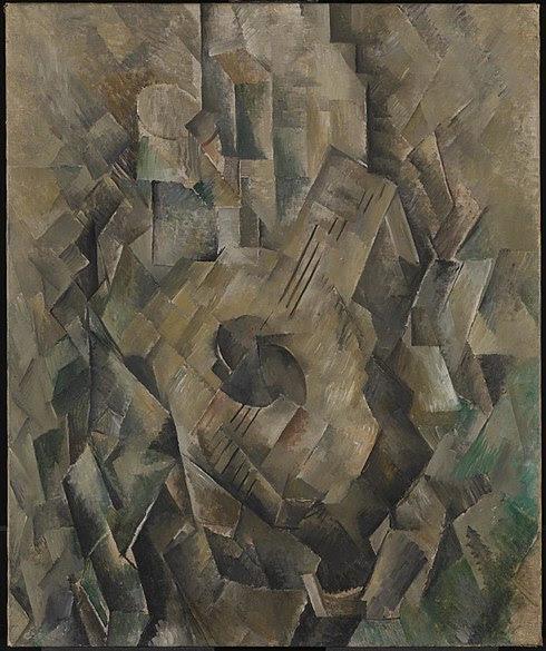 File:Georges Braque, 1909-10, La guitare (Mandora, La Mandore), oil on canvas, 71.1 x 55.9 cm, Tate Modern, London.jpg