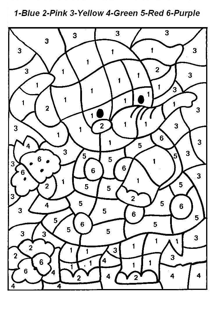Free Printable Color by Number Coloring Pages - Best