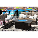 4PC Set Sofa Loveseat Side Table and Fire Table