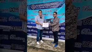 PT.Lydia Sola Gracia berikan bantuan alat semprot di senfektan kepada 2 rumah sakit di kabupaten Sukabumi