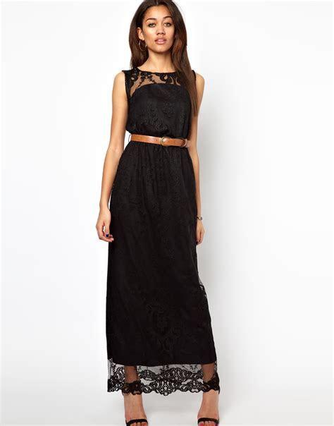River Island Lace Maxi Dress in Black   Lyst