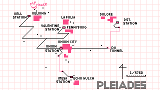Map opening, showing of Pleiades.