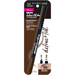 Maybelline Brow Define+Fill Duo By Eyestudio Defining Pencil + Filing Powder, Deep Brown 260