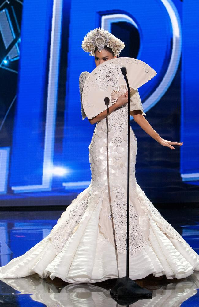 Pia Alonzo Wurtzbach, Miss Philippines 2015 debuts her National Costume on stage at the 2015 Miss Universe Pagaent on December 16, 2015 in Las Vegas. Picture: HO/The Miss Universe Organization