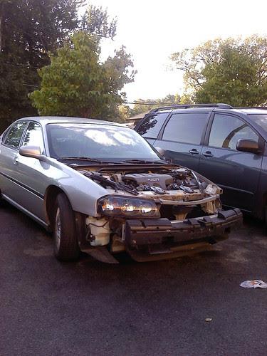 A car that has seen better days