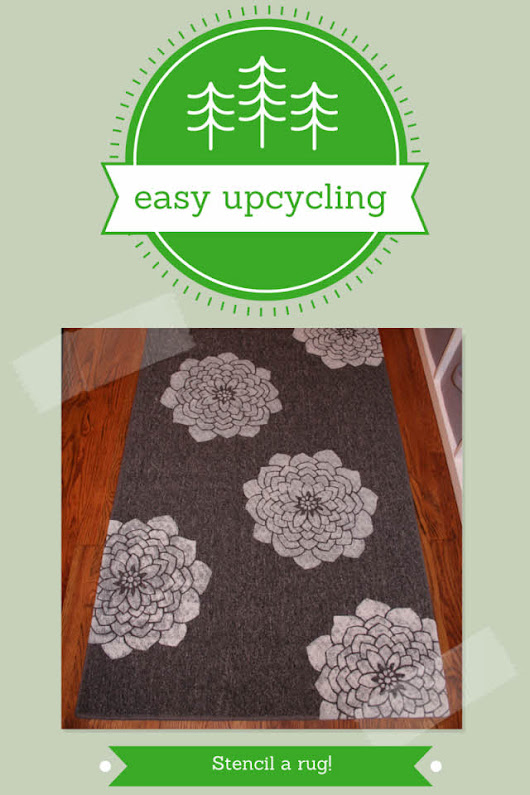 Upgrade An Old Rug With A Stencil: #easyupcycling