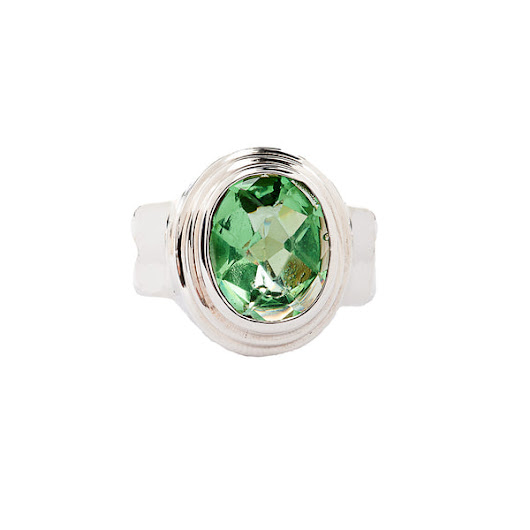 Candy Watermelon Green Quartz -Stunning Sterling Silver Ring