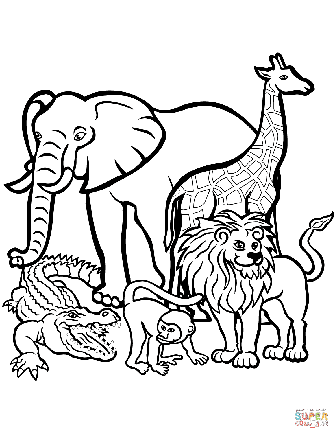 410 Coloring Pages Of Animals For Toddlers For Free