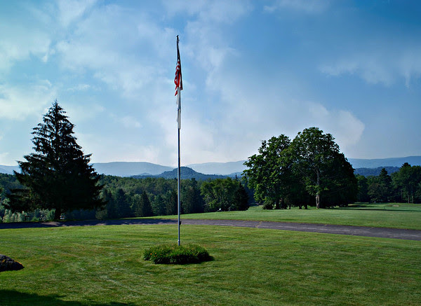 Flag on the Golf Course at the Cranwell Resort, Spa, and Golf Club