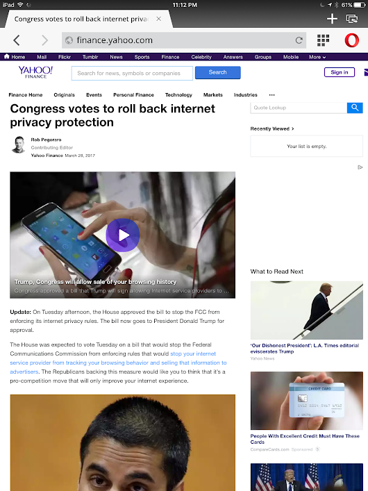 Weekly output: Internet-provider privacy (x2), net neutrality, online privacy advice
