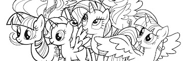 Full Size Free Printable My Little Pony Coloring Pages