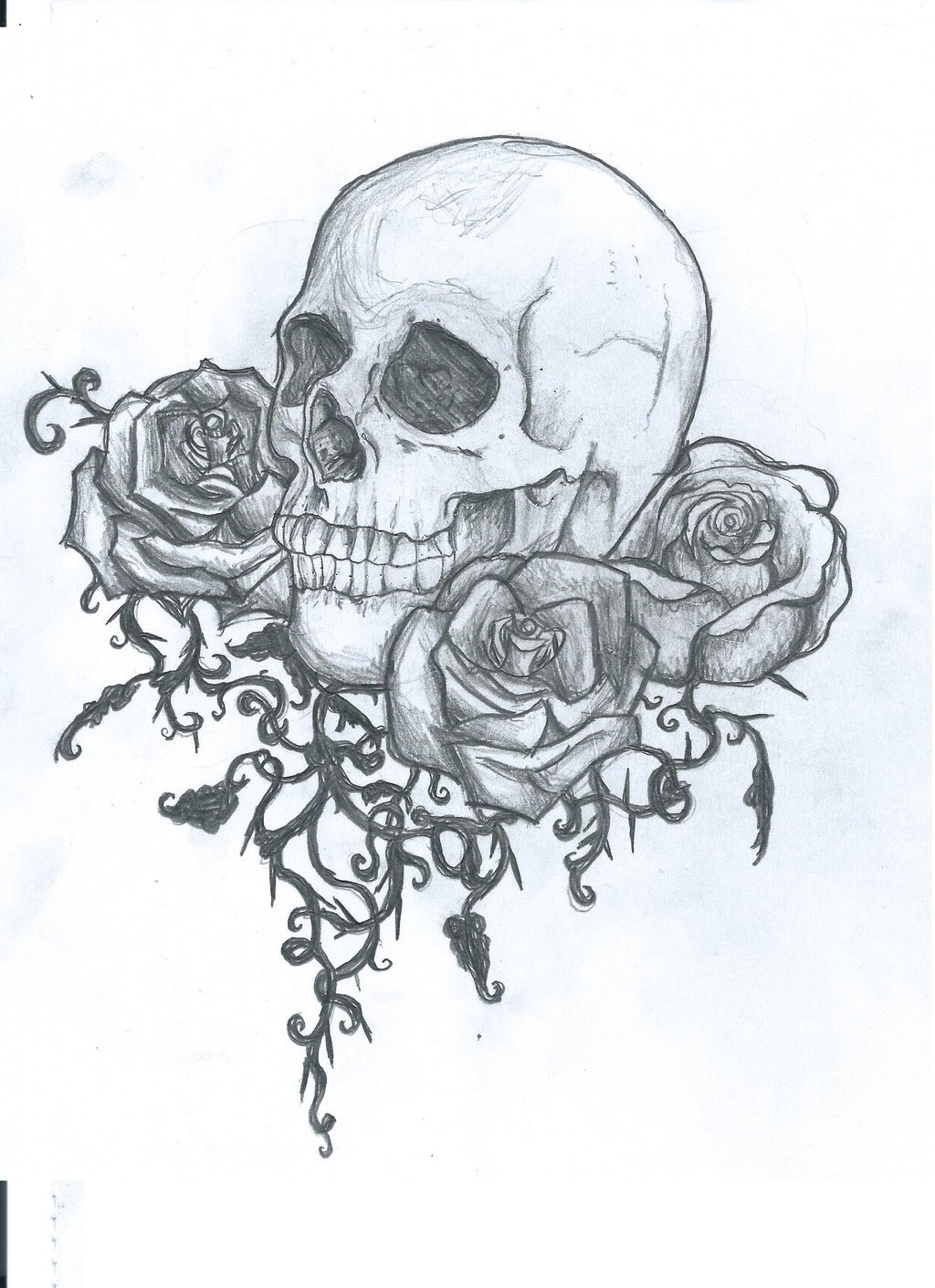 Skull Tattoos Drawing At Getdrawingscom Free For Personal Use