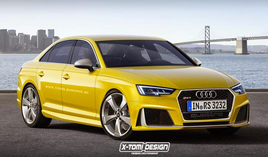 2017 Audi RS4 Rendered in Sedan and Avant Guises - Motorward