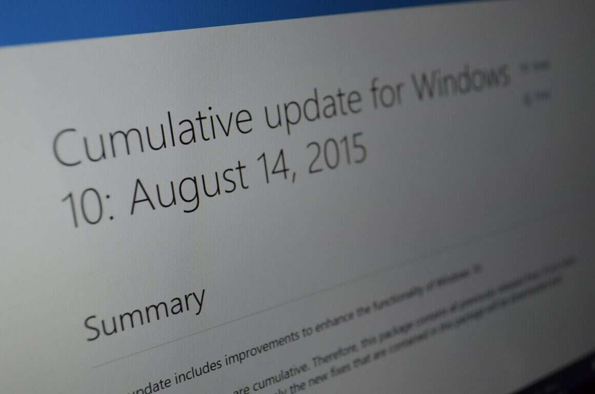 Windows 10, cumulative update 3