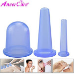 3pcs Jar Vacuum Cupping Cans for Massage Ventosa Celulitis Suction Cup Suction Cups Face Massage Cans Anti Cellulite for Body mix