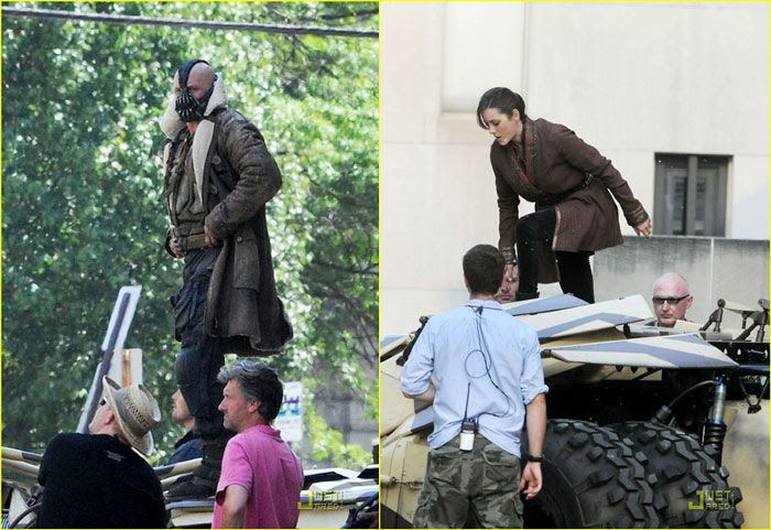 Bane and Miranda Tate (played by Marion Cotillard) appear in THE DARK KNIGHT RISES.