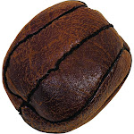 Howard Pet Vintage Flat Basketball Dog Toy Brown