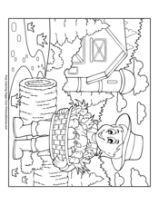 520 Autumn Scene Coloring Pages Images & Pictures In HD