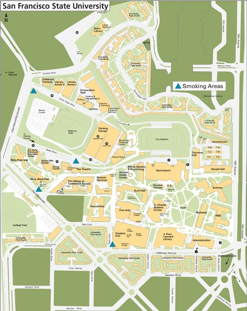 Sfsu Campus Map : campus, Francisco, State, University, Location, Catalog, Online