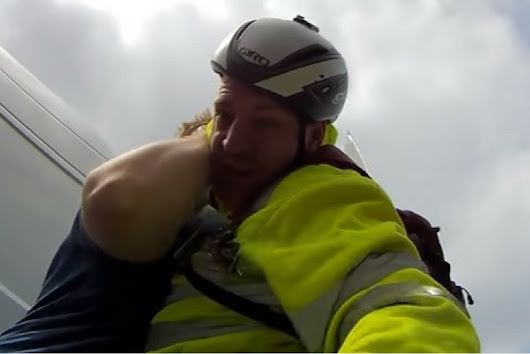 VIDEO: Shocking moment van driver grabs cyclist who called him out for using mobile phone